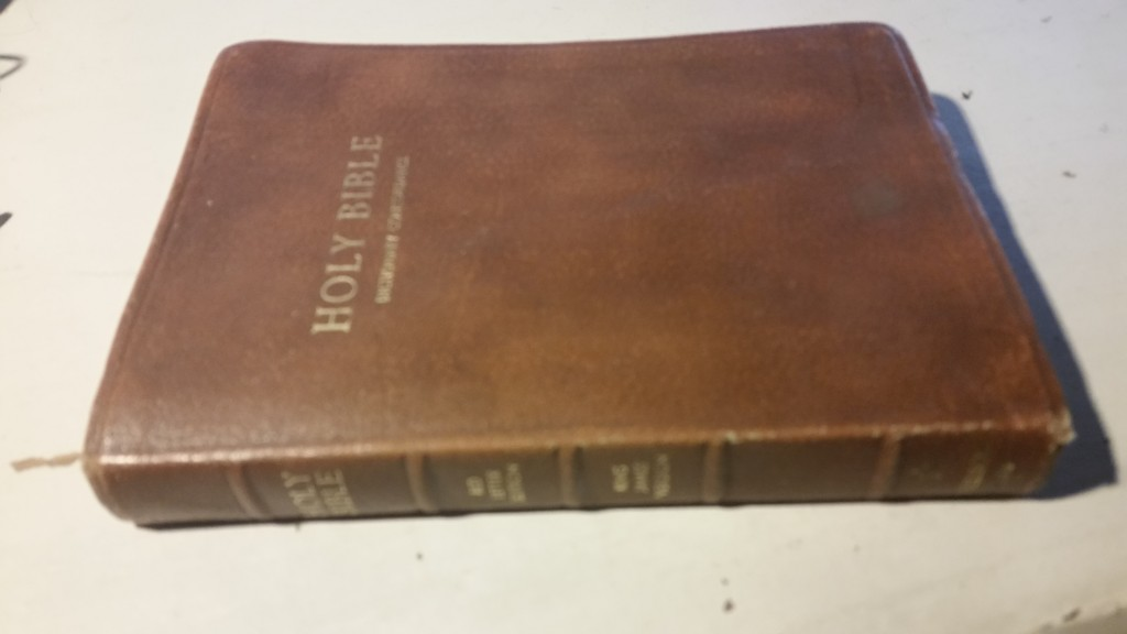 My very first Bible given to me by my grandparents for my twelfth birthday.